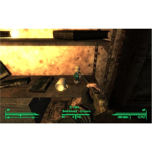 The Science Bobblehead in Vault 106