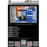 Preview other channels via the TV Guide as you watch TV on Android