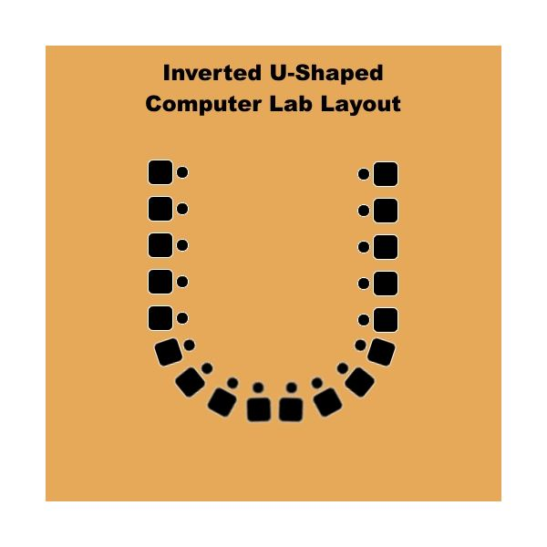 Inverted U-Shaped Computer Lab Layout
