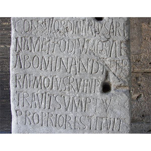 Example of an Ancient Latin Language Inscription