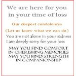 Comforting Verses for a Sympathy Card