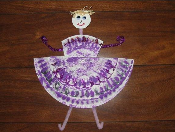 Paper Plate Ballerina
