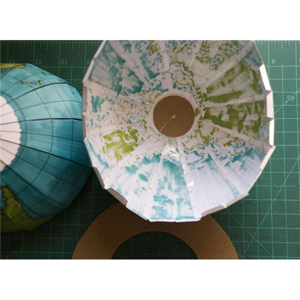 Adding support to our printed globe template