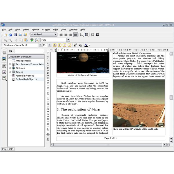 Linux Office Suites: KOffice Introduction and KWord