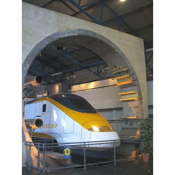 Eurostar Passenger Train in the Channel Tunnel