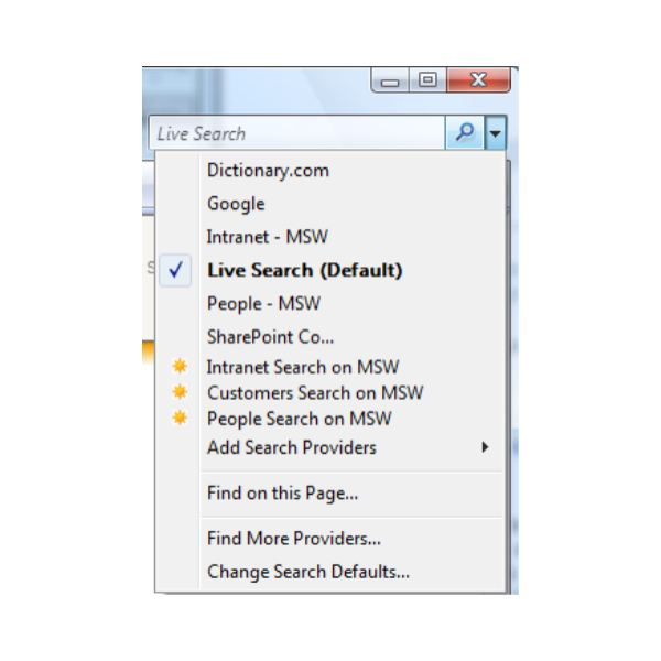 ie7 search