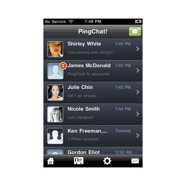 PingChat! iPhone