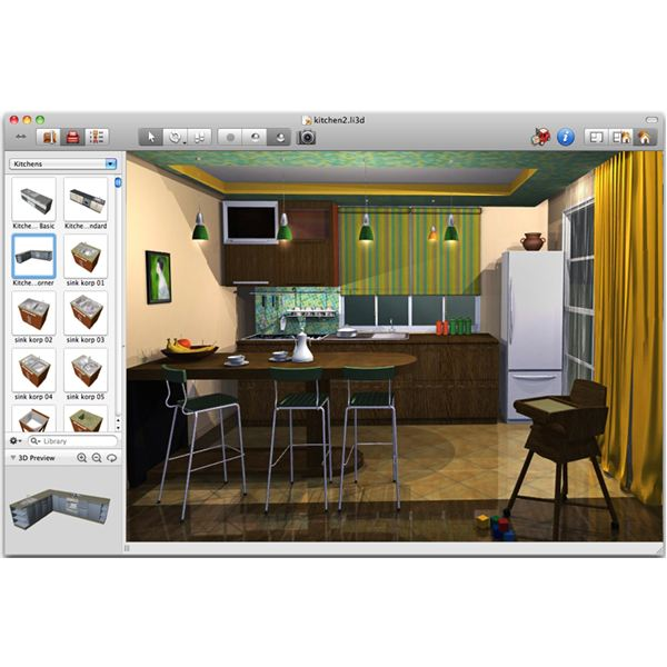 live interior 3d - Mac House Design