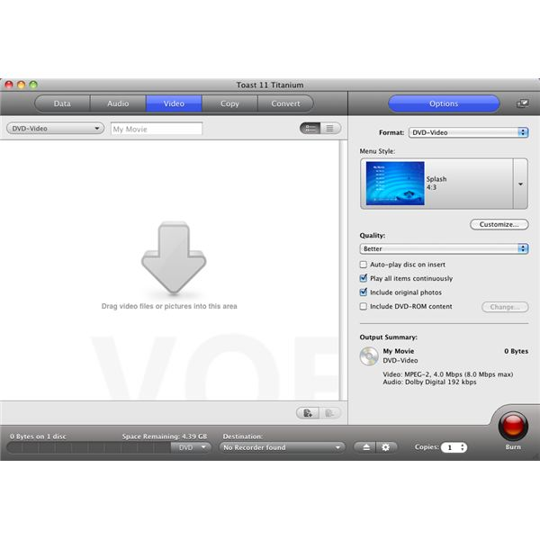 Finding Video Files to Burn to DVD