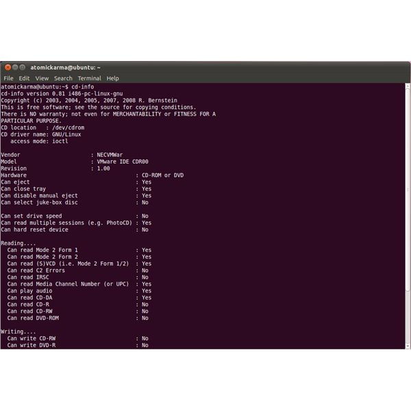 Finding out DVD Drive Info in Debian and Other Linux Distros
