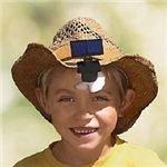 Gaiam Solar Powered Outdoor Hat Fan