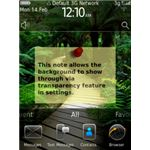 Home Screen Notes BlackBerry App