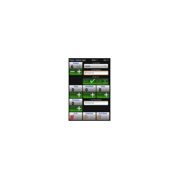 GolfCard - Player Scoring - Google Android