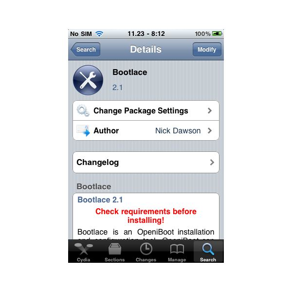 bootlace in cydia