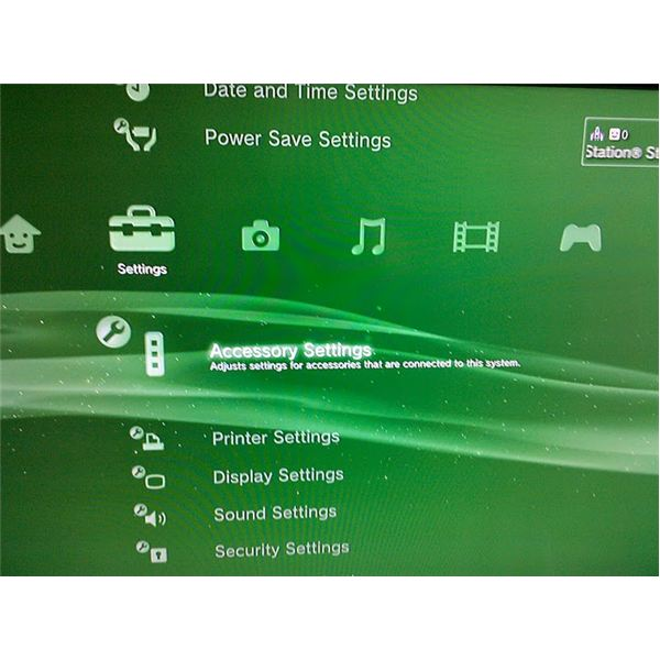 Accessory Settings Option