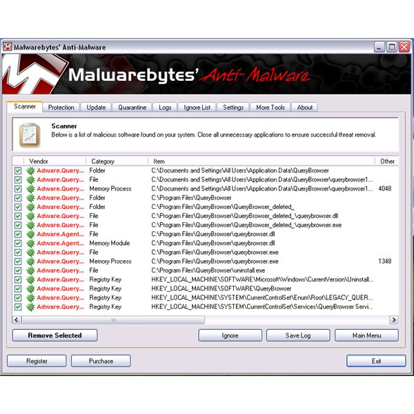 Malwarebytes Don't Detect FLVTube Player but only detects QueryBrowser