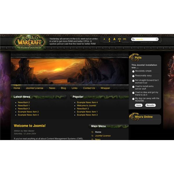 Top World Of Warcraft Joomla Templates Six Great WoW Themes For