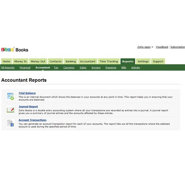 Zoho Books uses a double entry system