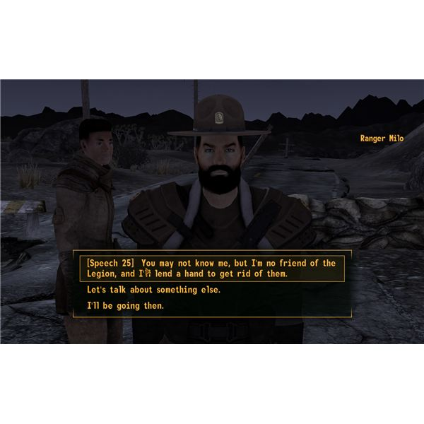 Falllout: New Vegas Walkhrough - Back in Your Own Backyard - Ranger Milo