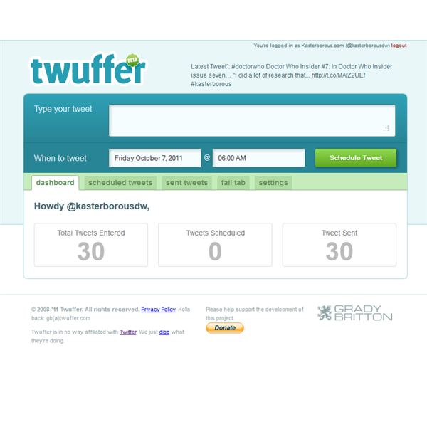 Most Twitter tools are available via websites