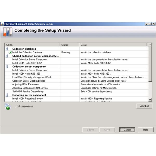 Forefront Client Security Installation Wizard - Completing the Setup Wizard