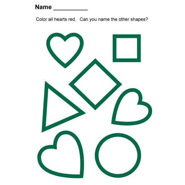 Preschool Lesson Plan on Heart Shapes: Songs, Books and