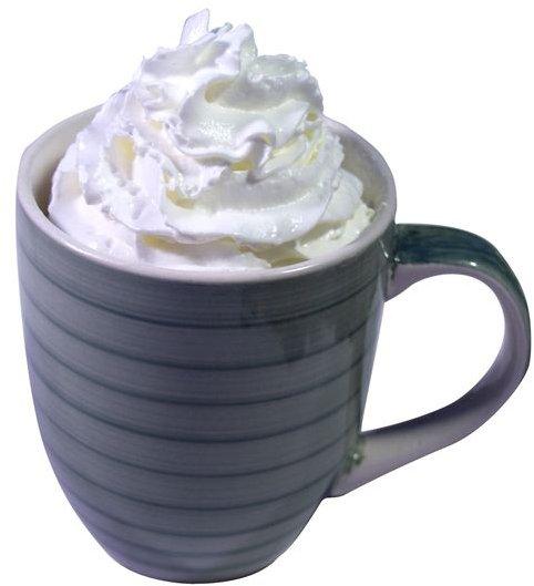 coffee mug whipped cream