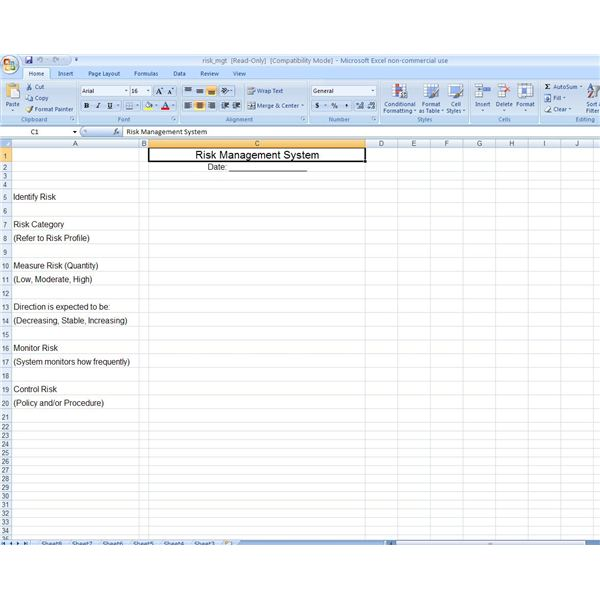 Learn Where to Find Free Excel Risk Assessment Tools.