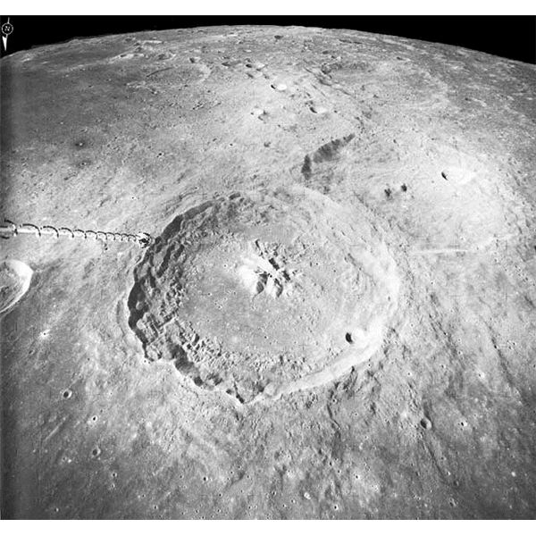 Odd Structures On The Moon - Courtesy NASA