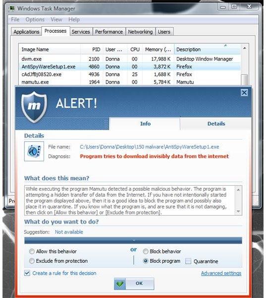 Mamutu Prevented Fake AV Installation