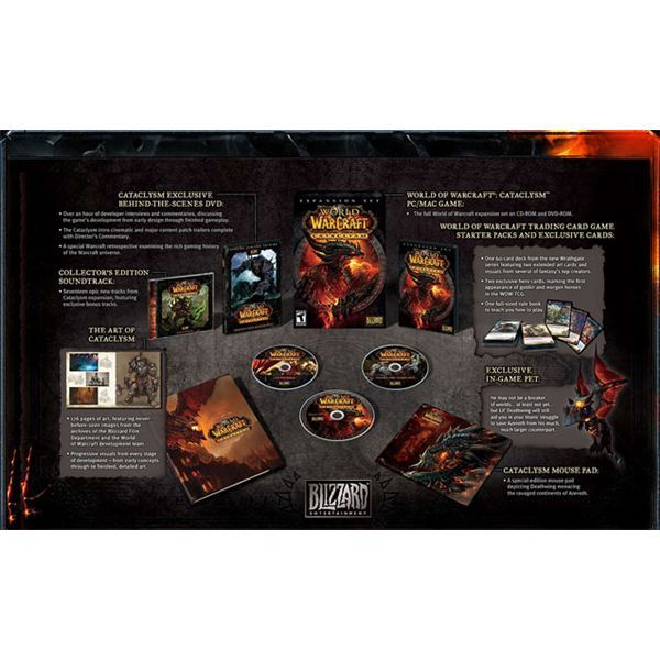 World of Warcraft: Cataclysm Collector's Edition Contents: In-Game Pet, Art Book, CD, Mousepad, and More