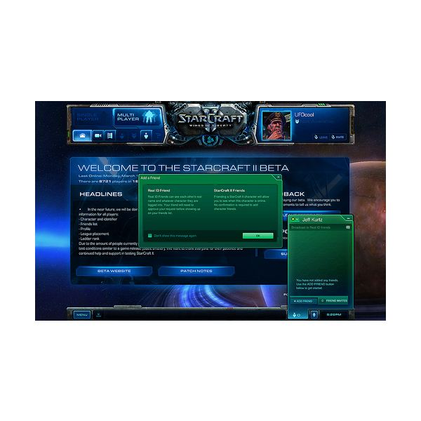 Adding friends in Starcraft 2, Real ID and More