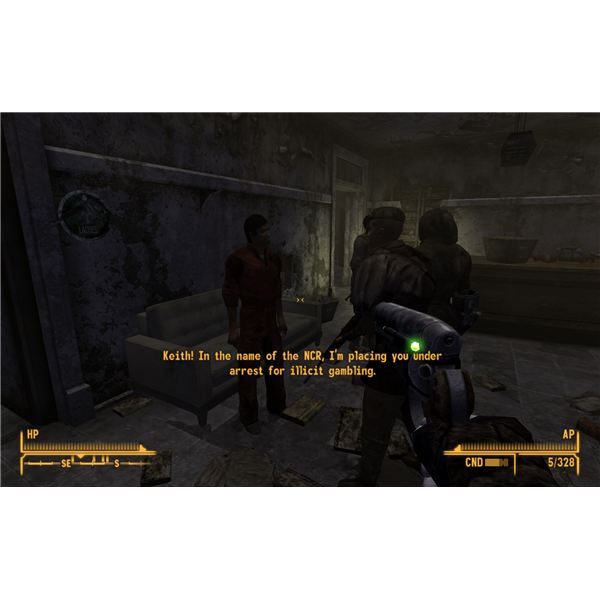 Fallout: New Vegas Walkthrough - Arresting Keith with Captain Parker