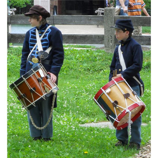 Civil War Reenactment Drummers