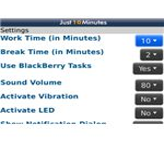 Just10Minutes screenshot options