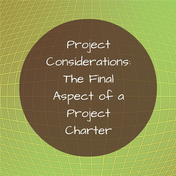 How to Write the Project Considerations Section of a Project Charter