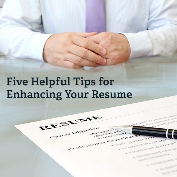 Does your resume need freshening up?