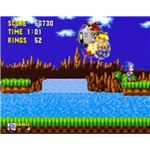 Sonic taking on Dr. Robotnik in Green Hill Zone - Act 3.