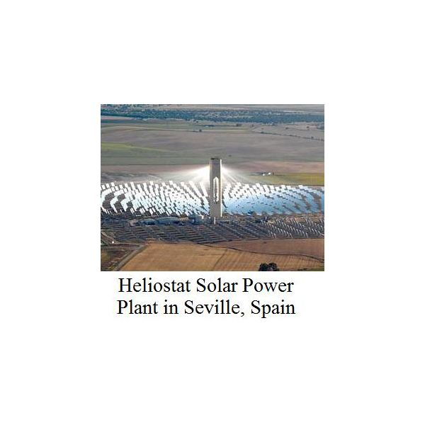 The Heliostat Solar Tower Solar Plant Produces Solar Power at a High Efficiency