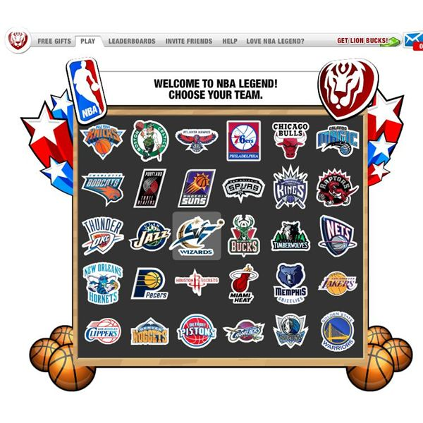 Facebook Sports Games: NBA Legends