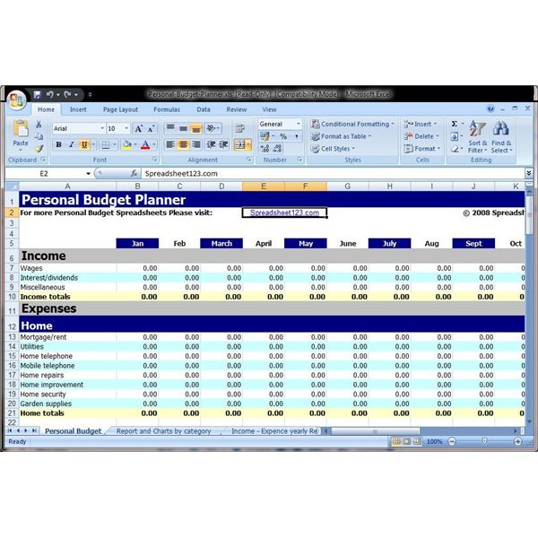 Microsoft Excel spreadsheet software