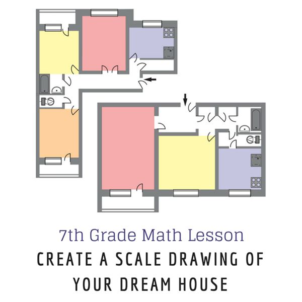 7th grade math lesson on scale drawing create your dream home for How do you make a blueprint