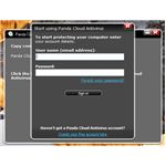 E-mail registration to activate Panda is required