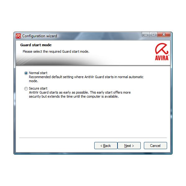 Secure Start of Avira Guard