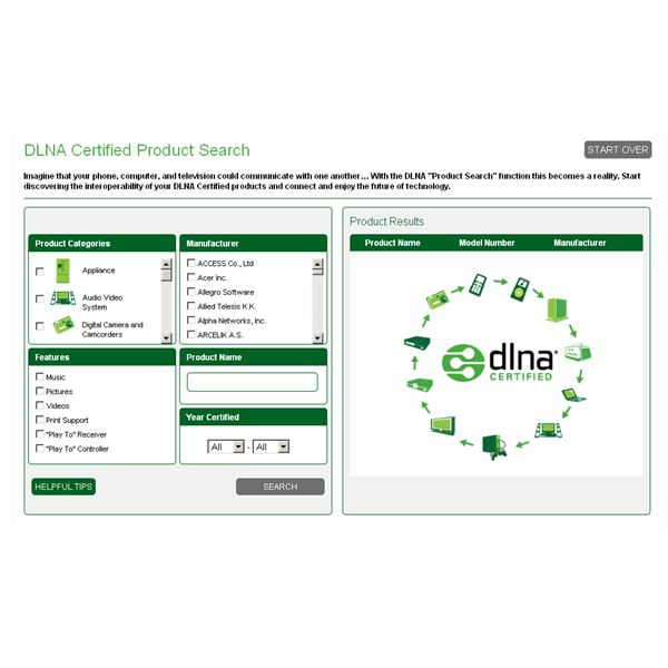 List of dlna certified devices