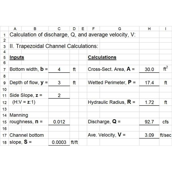 Excel Spreadsheet Calculations 2