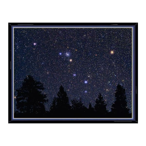 This photo of the constellation Cancer shows, enlarged in their true color, the main