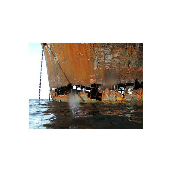 corroded ship