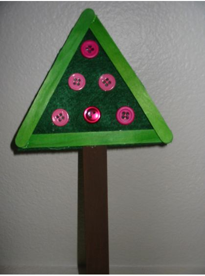 Craft Stick Button Tree