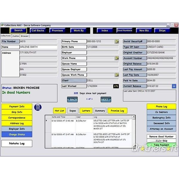 Collections Max administrator panel